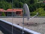 Dachmontage mit BLitzschutz
